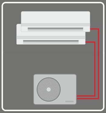 ar condicionado bisplit reversível, quente e frio, polisol