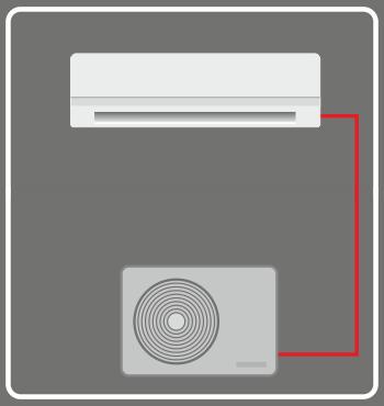 ar condicionado monosplit reversível, quente e frio, polisol