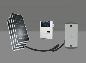 Água quente fotovoltaica
